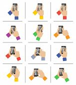 Smartphone touch gestures