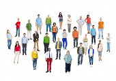 Large Group of Multiethnic Colorful People