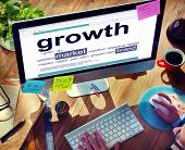 Digital Dictionary Growth Market Brand Concept
