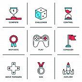 Competitive Advantage Line Icons Set