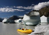 Icebergs On A Glacial Lake
