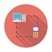 Phone sync single flat icon.