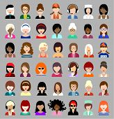 Set Of  Flat Icons With Women.