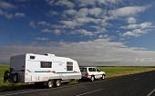 Caravan And 4Wd On Tour In The Great Outback