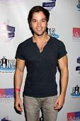 LOS ANGELES - OCT 19:  Nathan Kress at the First Annual Stars Strike Out Child Abuse event to benefit Childhelp at Pinz Bowling Center on October 19, 2014 in Studio City, CA