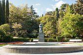 Anton Chekhov Statue In Park, Yalta, Crimea