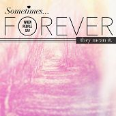 Inspirational Typographic Quote - Sometimes forever