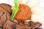 pic of clary  - delicate beef fillet roasted with herbs  - JPG