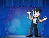 Mime theme image 3 - eps10 vector illustration.