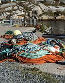 pile of fishing rope