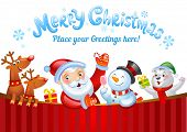 pic of christmas claus  - Christmas background with Santa Claus - JPG