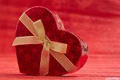 red box in heart shape