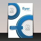 Business Corporate Flyer Template with Circle Pattern - Place for Your Image