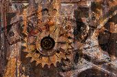 Gears, Clock, Money Background