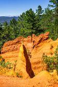 Ochre Cliffs Near Roussillon, Provence, France