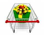 Gift box on cart