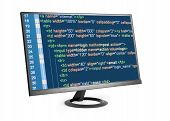 Html Code On Computer Monitor
