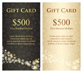 Exclusive Charcoal Christmas Gift Card With Stream Of White Snowflakes