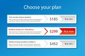 Modern template for 3 pricing plans with 1 recommended
