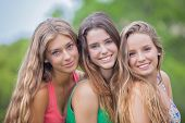 beautiful young teens girls with perfect skin teeth and hair.