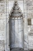 pic of niche  - Antique marble niche outside blue mosque in Istanbul Turkey - JPG