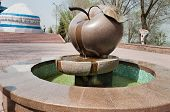 Fountain Apple On The Mountain Kok Tobe In Almaty