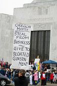 Oregon protesters of two tax hikes