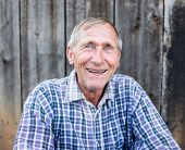 image of redneck  - Happy smiling elder senior man portrait - JPG