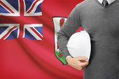 Engineer With Flag On Background - Bermuda