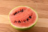 Water Melon On Wooden Table
