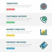 image of payment methods  - Flat design concept for website template - JPG