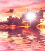 Early Morning Idyllic Paradise
