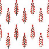 Plants. Watercolor Seamless Pattern.