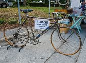Vintage Bicycle On Display At L'eroica, Italy
