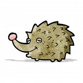 cartoon happy hedgehog
