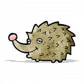 cartoon happy hedgehog