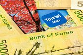 stock photo of won  - South Korea Won Cash for Korea travel - JPG