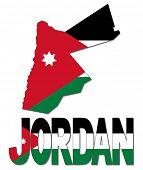 Jordan map flag and text illustration