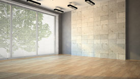 picture of louvers  - Empty room with blind illustration - JPG