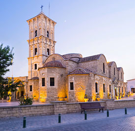picture of larnaca  - The St Lazarus church situated in the heart of the old town and neighboring with the Ecclesiastical museum Larnaca Cyprus - JPG