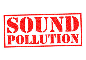 foto of noise pollution  - SOUND POLLUTION red Rubber Stamp over a white background - JPG