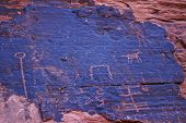 Petroglyphs on canyon wall