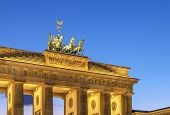 image of rebuilt  - The Brandenburg Gate is a former city gate rebuilt in the late 18th century as a neoclassical triumphal arch and now one of the most well - JPG