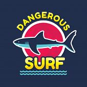 stock photo of dangerous  - Dangerous surf  - JPG
