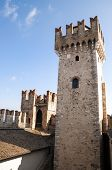 stock photo of lagos  - Tower of Sirmione Citadel  Lago di Garda - JPG