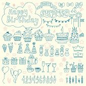 pic of birthday  - Hand drawn Birthday elements - JPG