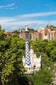pic of gaudi barcelona  - Park Guell in Barcelona Spain in a summer day - JPG