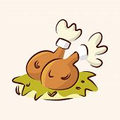 picture of high calorie foods  - Fast Food Freid Chicken Flat Icon Elements - JPG