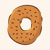 foto of high calorie foods  - Fast Food Donut Flat Icon Elements - JPG
