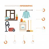 foto of cleaning house  - House cleaning infographic made in vector - JPG
